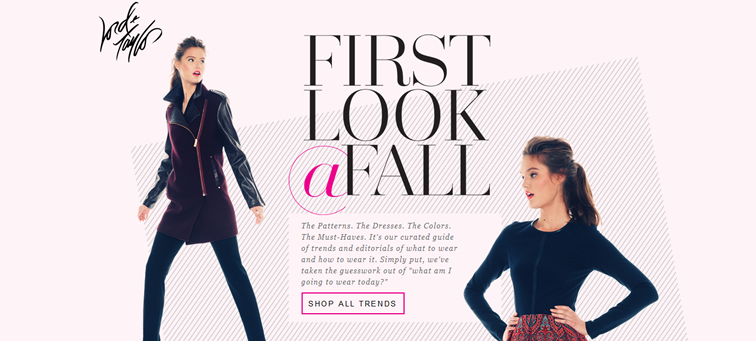 Lord and Taylor First Looks animated css parallax scrolling