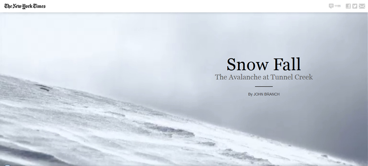 The Avalanche at Tunnel Creek animated css parallax scrolling