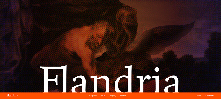 Flandria animated parallax css scrolling