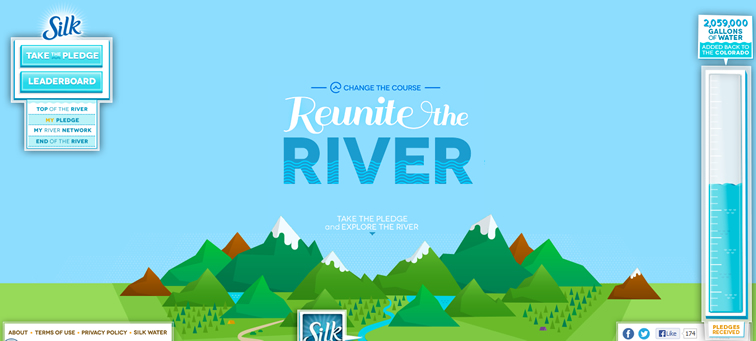 Reunite the River animated parallax css scrolling