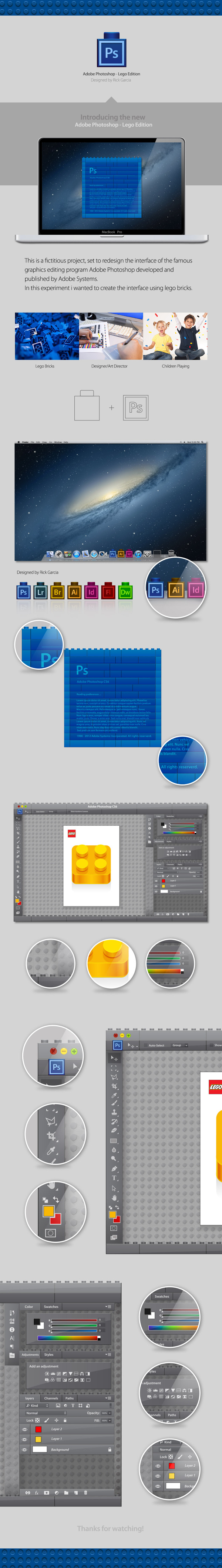Adobe Photoshop interface Recreated Using Lego
