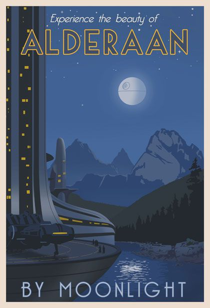 star wars travel posters alderaan