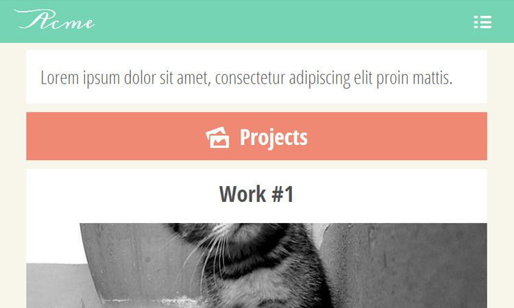 flat colorful mobile portfolio webapp open source