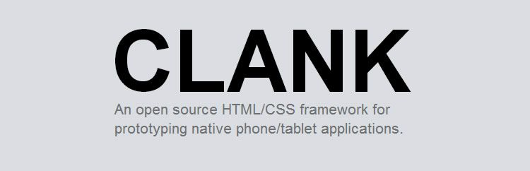 Clank CSS framework grid responsive UI kit top 50 css tools resources 2013