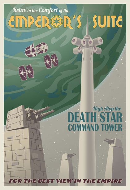 star wars travel posters death star