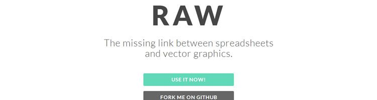 Raw is an open web tool for creating custom vector-based visualizations