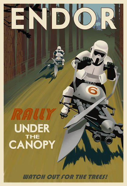 star wars travel posters endor