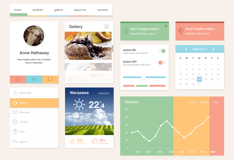 Ero Widgets UI Kit Preview Screenshot