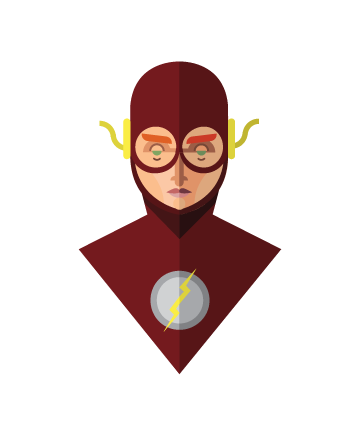 flat minimal superheroes The Flash