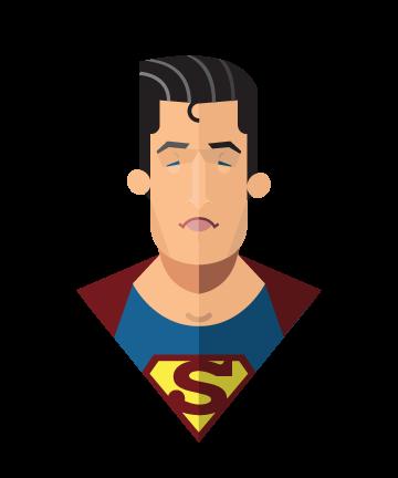 flat minimal superheroes Superman