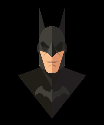 flat minimal superheroes Batman