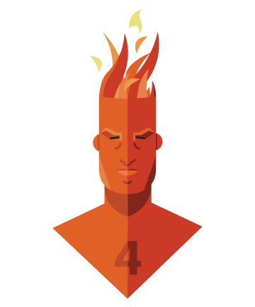 flat minimal superheroes The Human Torch