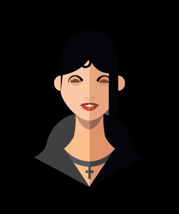 flat minimal superheroes Liz Sherman