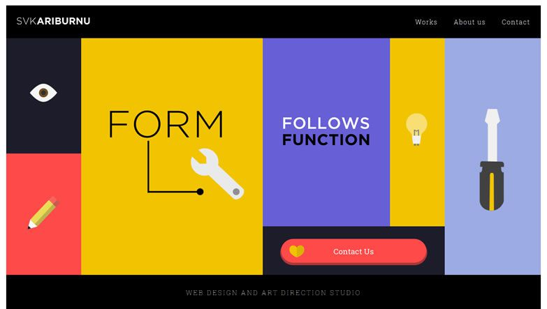 illustration flat screenshot web design Svkariburnu