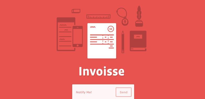 illustration flat screenshot web design Invoisse
