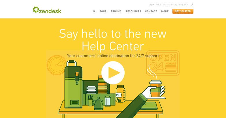 illustration in web design Zendesk