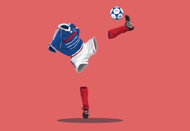 France 1998 football illustrations