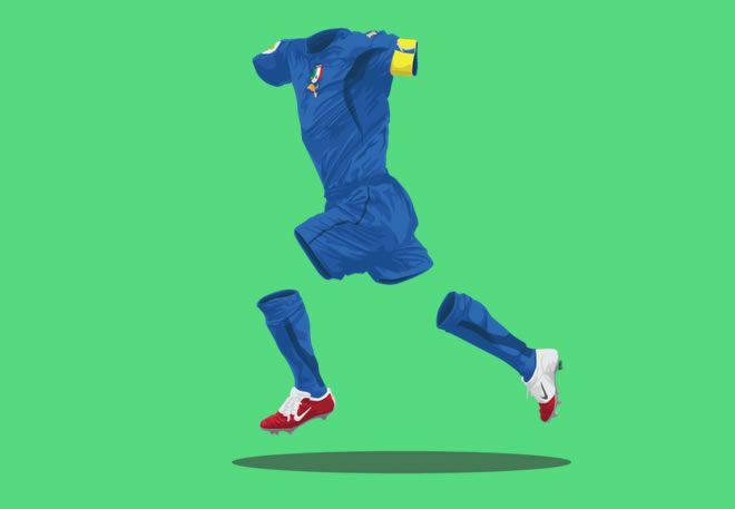 Italy 2006 football illustrations ghost