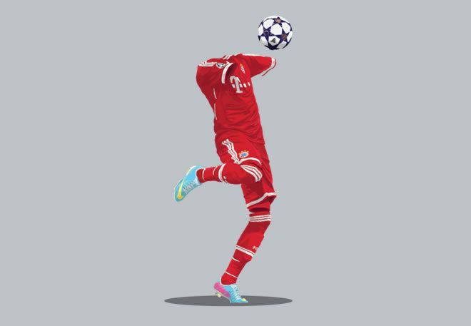 Bayern Munich 2013/14  football kit illustration
