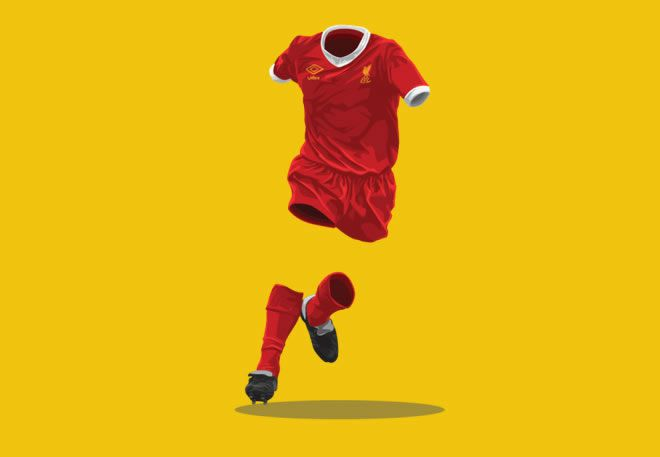 Liverpool 1979-1979 football kit illustration ghost
