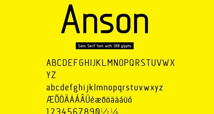 headline crisp fonts free Anson