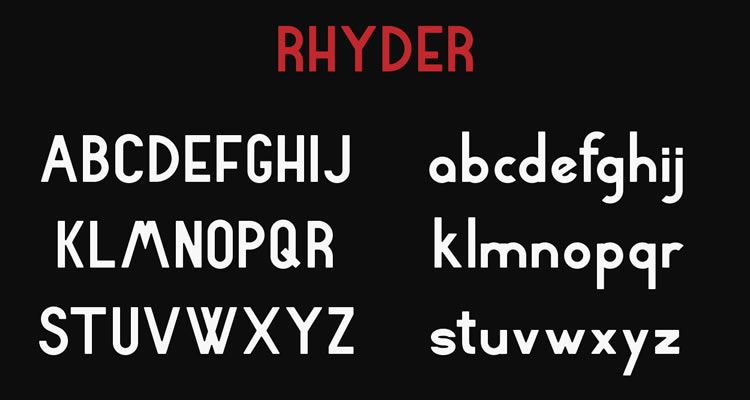 headline font free Rhyder