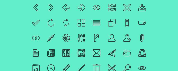 Line Icon Set 124 Icons, PSD, EPS & AI