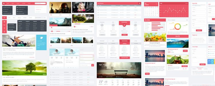 Flatic UserInterface Kit PSD