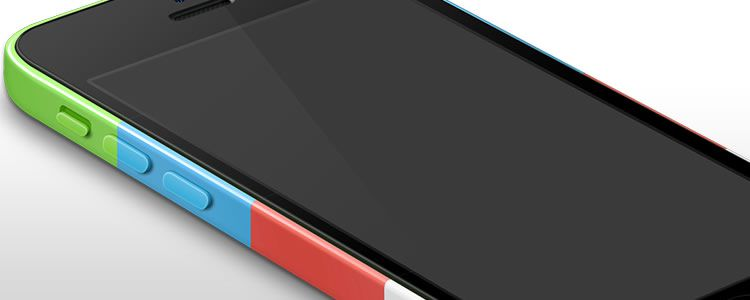 iPhone 5c Template PSD
