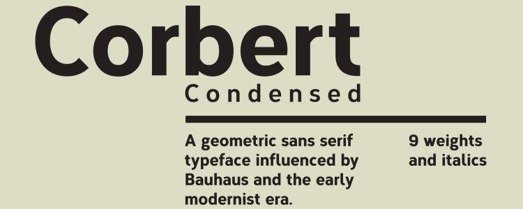 Corbert Condensed Regular & Italic +Web Font