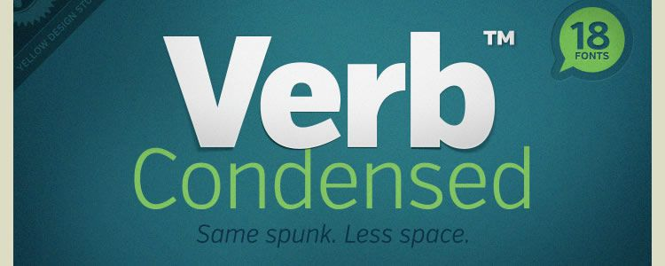 Verb Condensed Regular & Italic  +Web Font