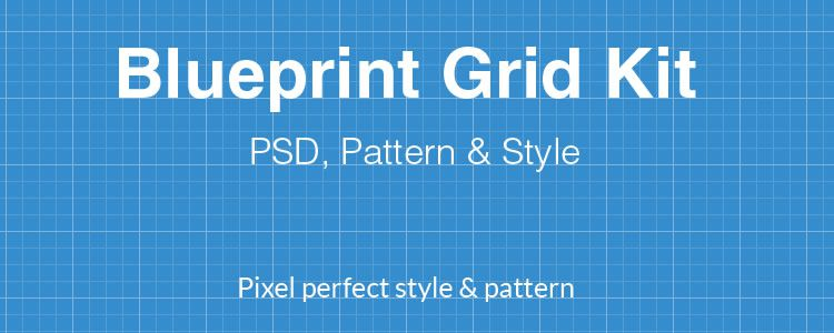 Pixel Perfect Blueprint Patterns PSD, PAT & ASL