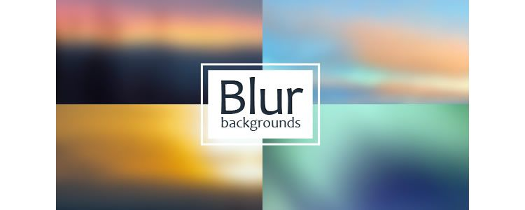 4 Blur Backgrounds