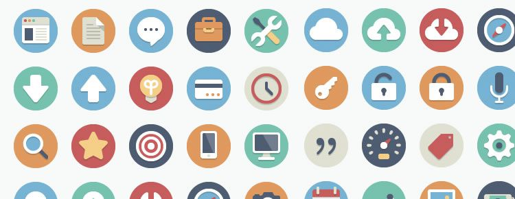 Beautiful Flat Icons designers freebies