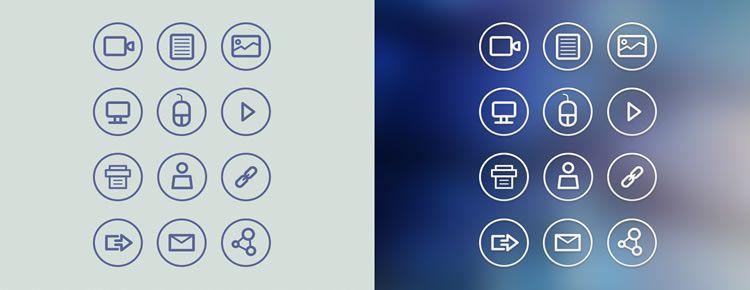 Circular Icon Set designers freebies
