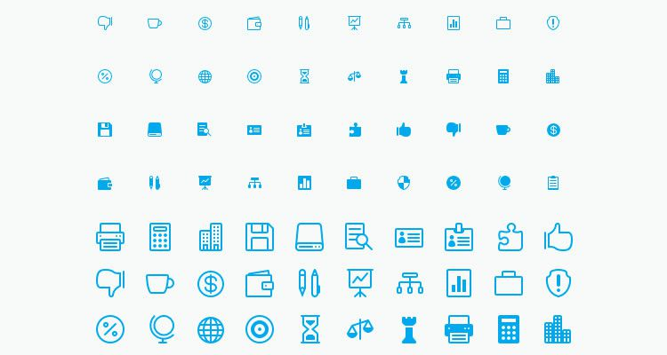 50 Business Icons designers freebies