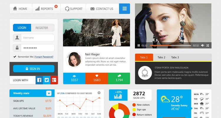 Simple UI Kit designers freebies