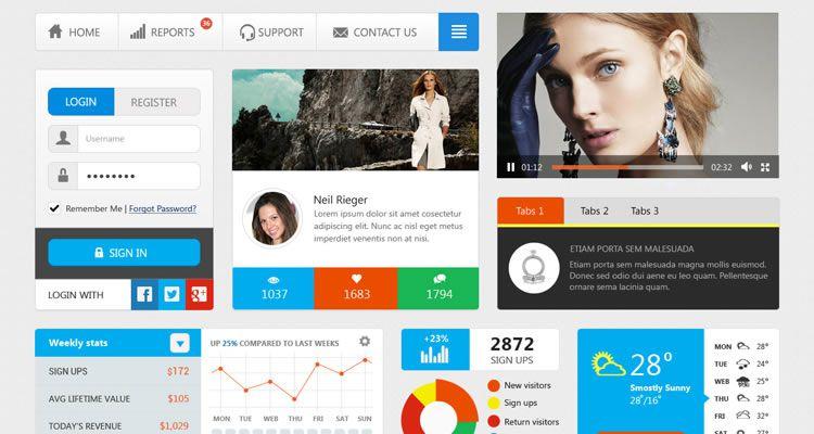 Simple UI Kit designers freebies