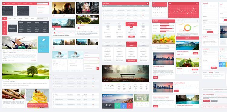 Flatic UserInterface Kit designers freebies