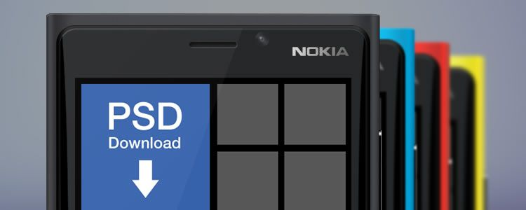 Nokia Lumia 920 Mockup designers freebies