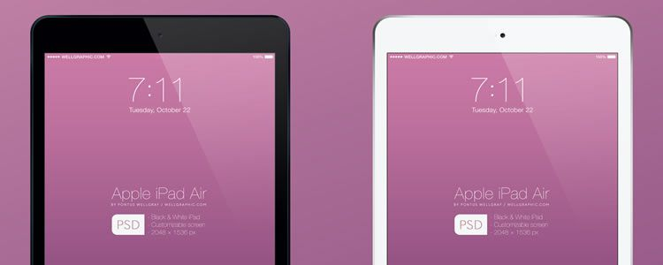 Apple iPad Air Mockup designers freebies