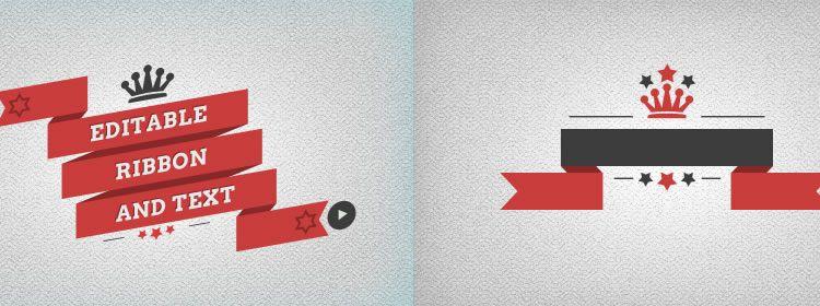 Flat Ribbons psd designers freebies