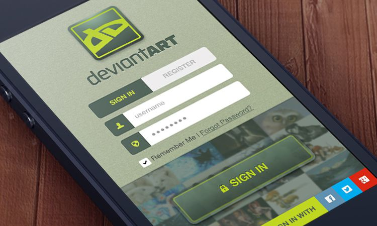 freebie psd ios app download deviantart splash homepage