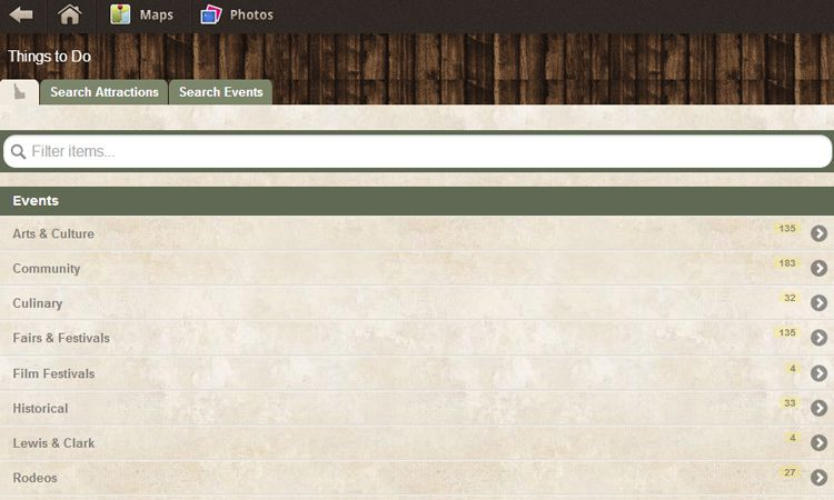 visit idaho website mobile webapp jquery webdesign screenshot