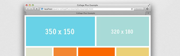 jQuery CollagePlus image gallery plugin arrange images fit exactly within a container