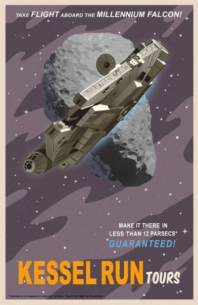 poster travel star wars Kessel Run