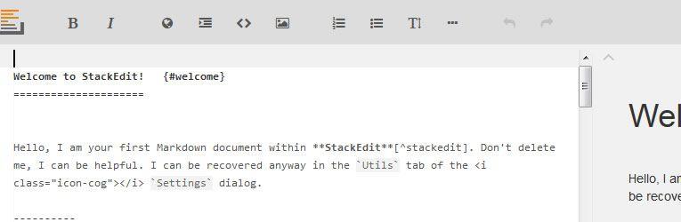 markdown editor StackEdit