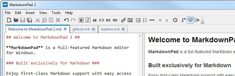markdown editor MarkdownPad windows