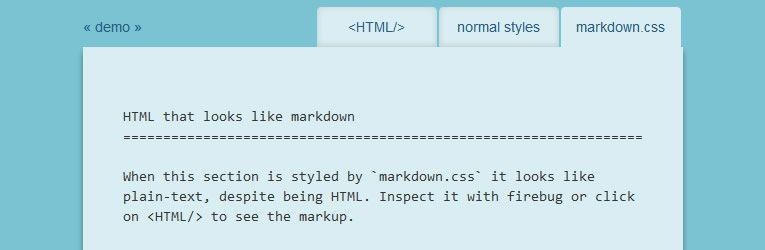 markdown tools app Markdown.css