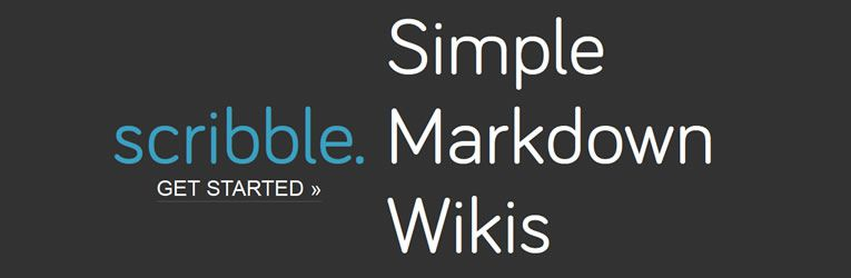 markdown tools app Scribble Simple Wikis